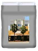 Two Palms Art Deco Building Duvet Cover