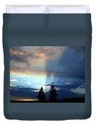 Two-pine Sunset Duvet Cover
