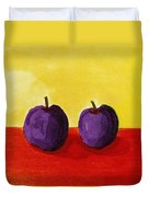 Two Plums Duvet Cover