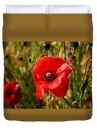 Two Poppies Duvet Cover