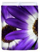 Two Purple N White Daisies Duvet Cover