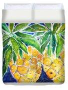 Two Purple Pineapples Duvet Cover