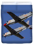 Two Pzl-130 Orlik Trainers Duvet Cover