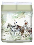 Two Riders Duvet Cover