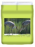 Two Sandhills By The Water Duvet Cover