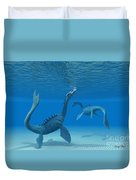 Two Sea Dragons Duvet Cover