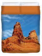 Two Sisters Formation Sedona Az Hbn2 Duvet Cover