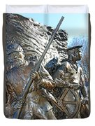 Two Soldiers Of The The African American Civil War Memorial -- The Spirit Of Freedom Duvet Cover