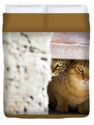 Two Stray Cats Duvet Cover