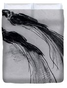 Two Studies Of A Bird Of Paradise 1630 Duvet Cover