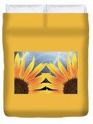 Two Sunflower Lightning Storm Duvet Cover