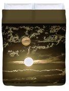 Two Suns Duvet Cover