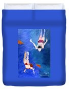 Two Swimmers Duvet Cover