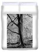 Two Trees In Spring - Mono Duvet Cover