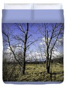 Two Trees Of Blue Duvet Cover