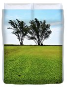 Two Trees On Meadow 15304 Duvet Cover