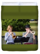 Two Trumpets Duvet Cover