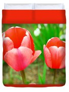 Two Tulips In Bloom  Duvet Cover
