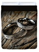 Two Wedding Rings With Celtic Design Duvet Cover
