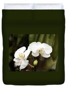 Two White Orchids Duvet Cover