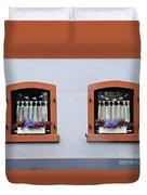 Two Windows In Schierstein Duvet Cover