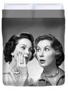 Two Women Gossiping, C.1950-60s Duvet Cover