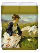 Two Women On The Hillside 1906 Duvet Cover