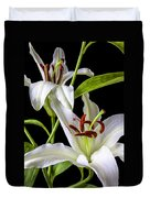 Two Wonderful Lilies  Duvet Cover