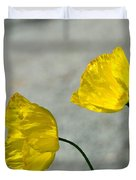 Two Yellow Blossoms Duvet Cover