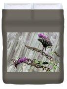 Two Zebra Swallowtail Butterflies Duvet Cover