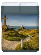 Twr Mawr Lighthouse Duvet Cover