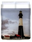 Tybee Island Lighthouse - Square Format Duvet Cover