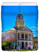 Tyler County Courthouse Duvet Cover