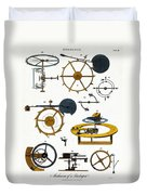 Types Of Clock Mechanism, 1810 Duvet Cover