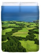 Typical Azores Islands Landscape Duvet Cover
