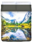 Typical View Of The Yosemite National Park Duvet Cover