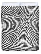 Typical Whorl Pattern In 1900 Duvet Cover