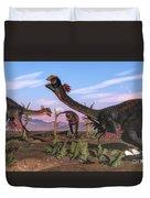 Tyrannosaurus Rex Attacking Duvet Cover