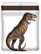Tyrannosaurus Rex On White Duvet Cover