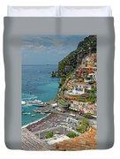 Tyrrhenian Sea Amalfi Coast Duvet Cover