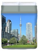 Toronto Towers From The Park Duvet Cover