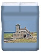 U S Lifesaving Station Duvet Cover
