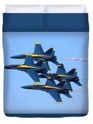 U S Navy Blue Angeles, Formation Flying Duvet Cover