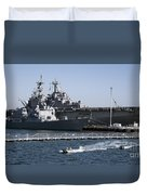 U S S Sampson And U S S Essex In San Diego Duvet Cover