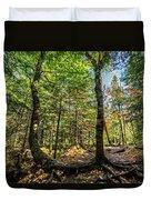 U Shaped Trees Cascade Mountain Ny New York Duvet Cover