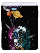 Ufo Astronaut Spaceshuttle Space Force Duvet Cover