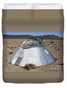 Ufo Landing Duvet Cover