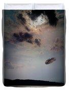 Ufo Over Lake Superior Duvet Cover