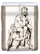 Ugolino And His Sons Duvet Cover