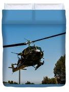 Uh-1 Huey Arrival Duvet Cover